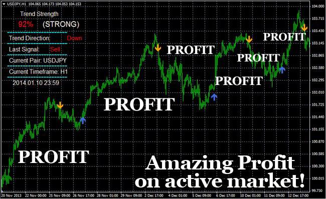 Trend profit indicator