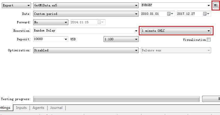 Get M1 OHLC data for MetaTrader 4 backtesting - expert for MetaTrader 5