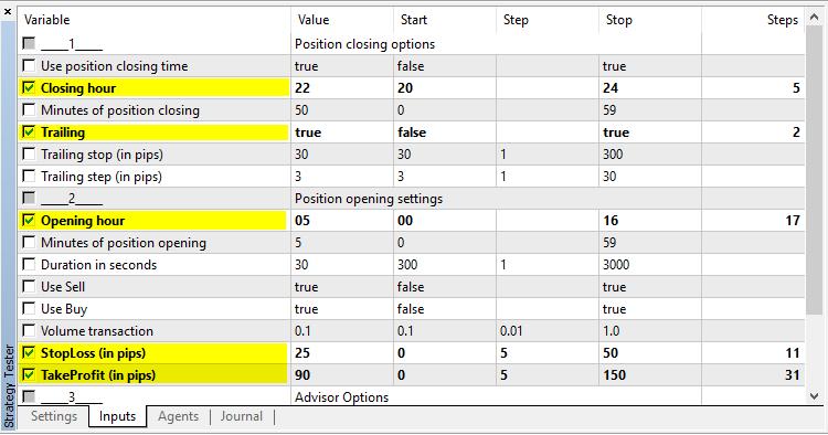 OpenTime - expert for MetaTrader 5